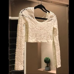 Mossimo cropped lace top
